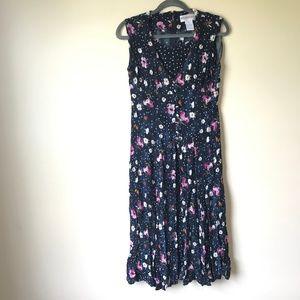 Westport Ltd Unusual Floral & Polka Dot Dress - 10
